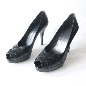Stuart Weiztman Pumps Peep Toe Platform Heels 8.5